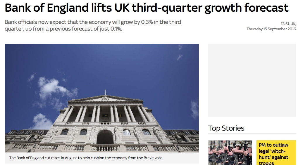 Bank of England revising growth forecast for the UK