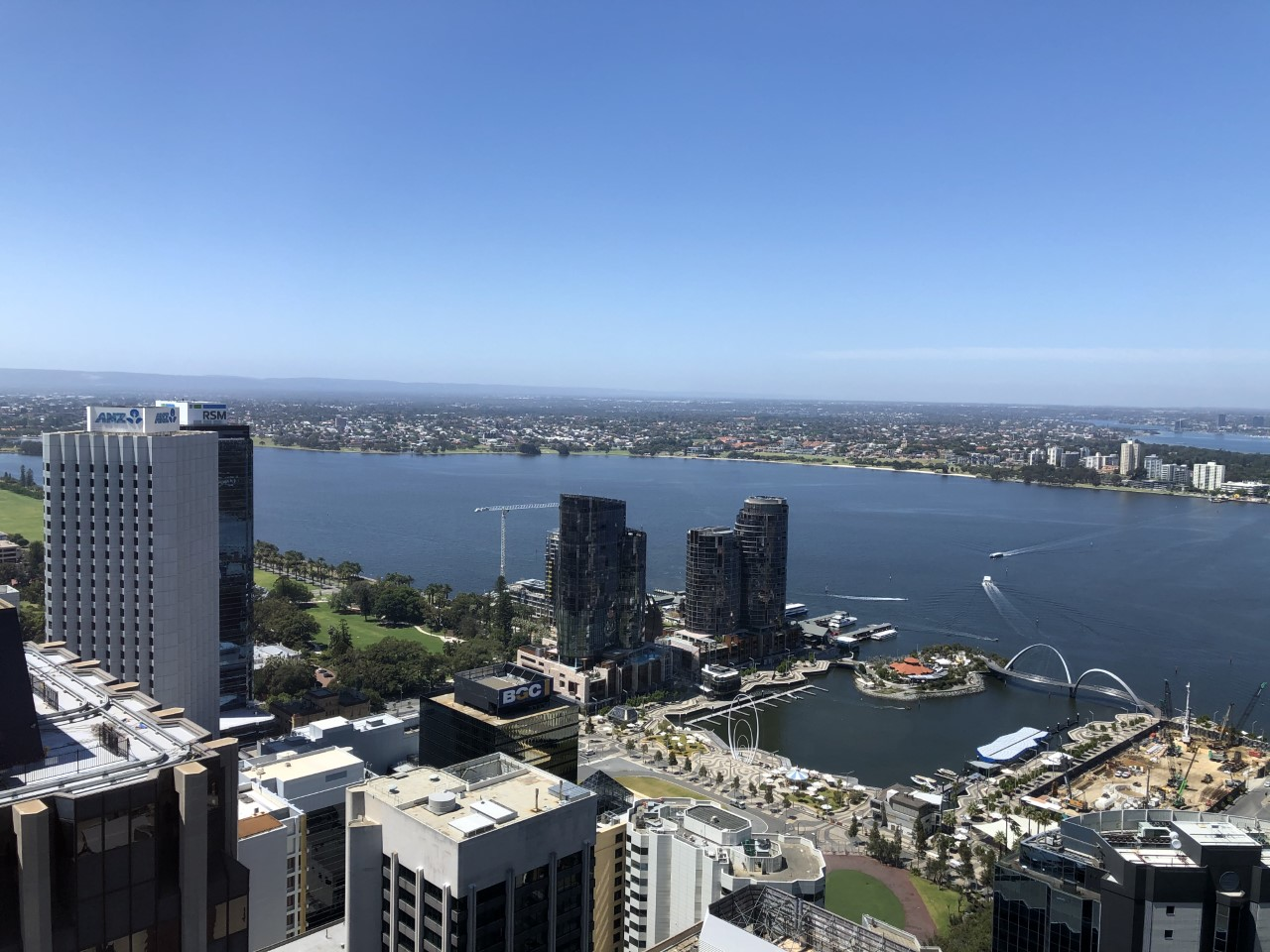 Australian Businesses - Perth skyline from WeWork office