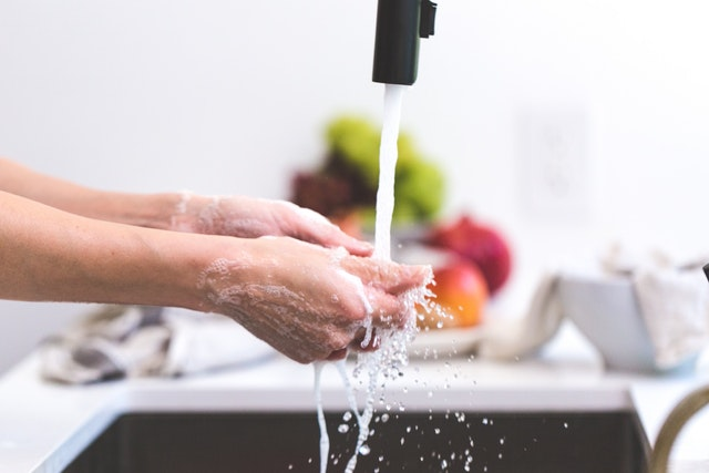 Washing hands to avoid spread of virus