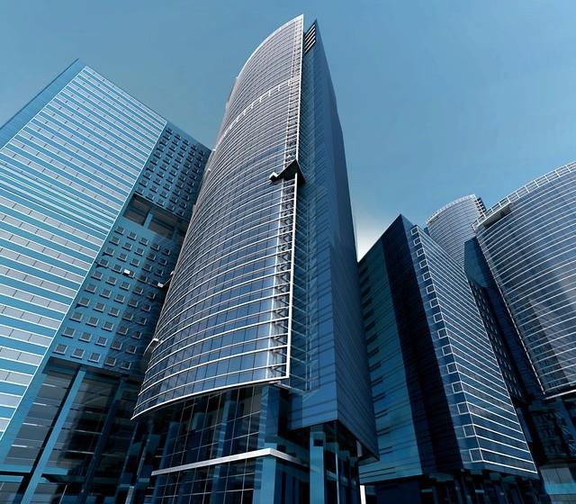 City buildings during Coronavirus outbreak